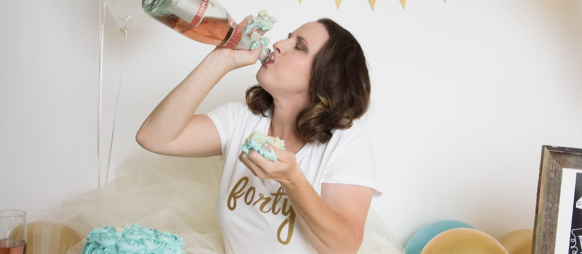 Adult Cake Smash Birthday Photoshoot