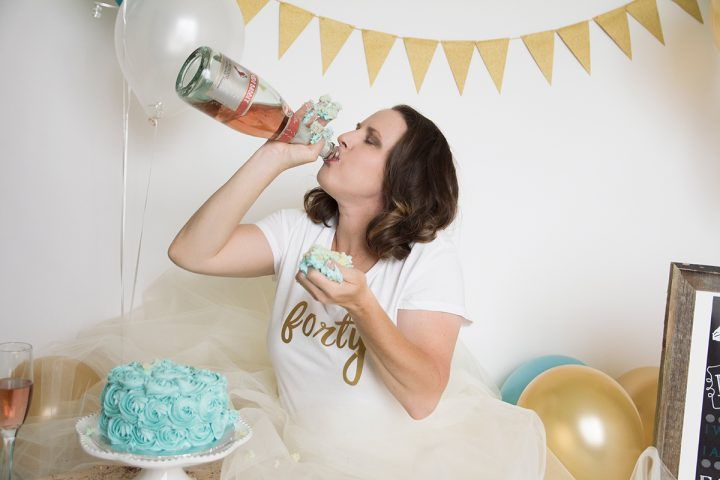 Adult Cake Smash Birthday Photoshoot